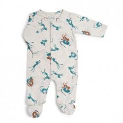 Pyjama 6 mois jersey crème...